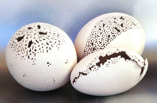 More porcelain egg art from my award-winning Coral Collection