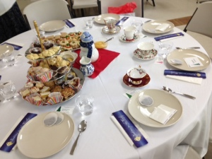 Beautiful tea party setting for my author event put together by the West Side Stories and CELC Book Clubs of Goodyear.