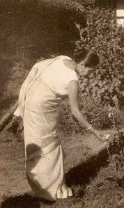 Om in garden